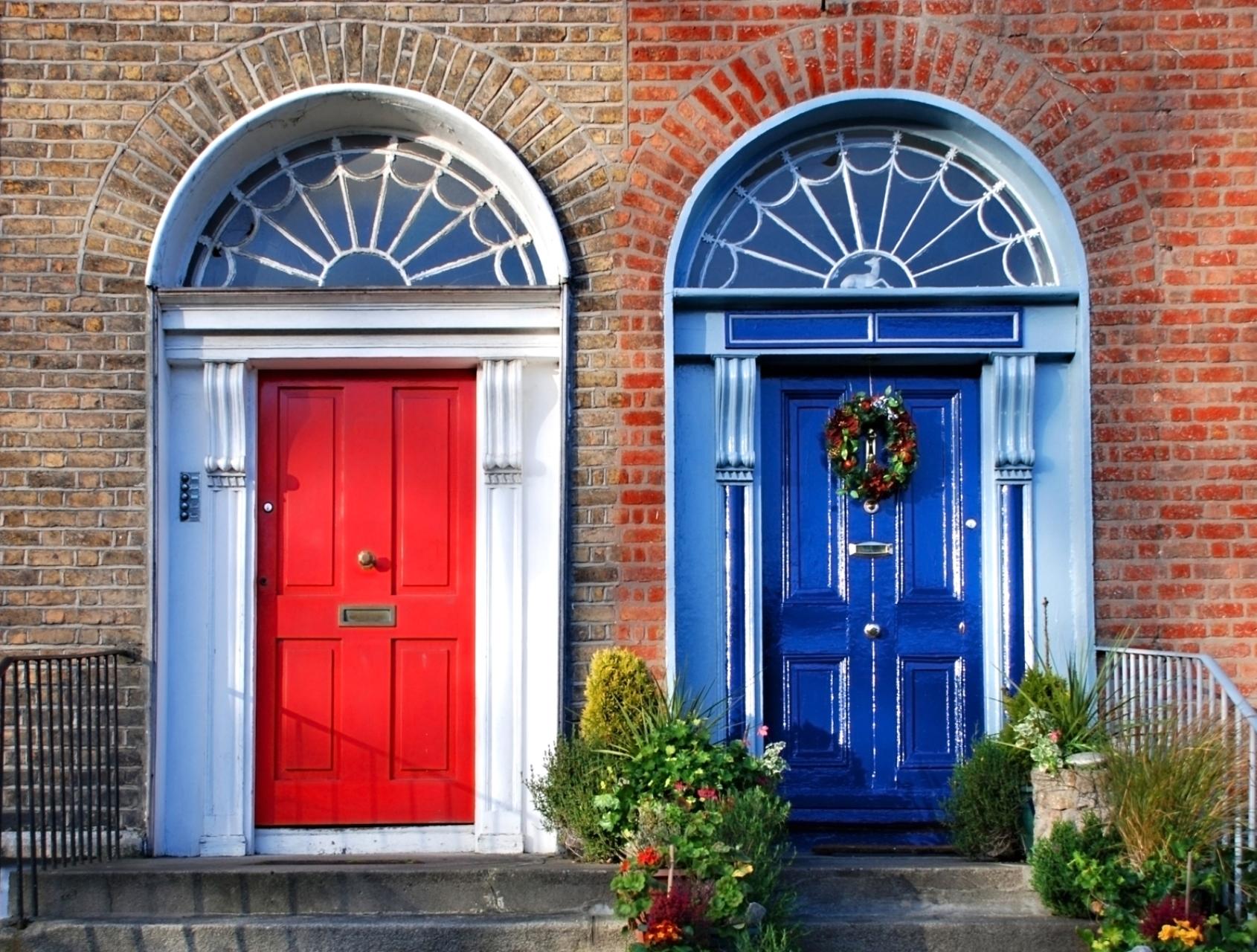 Bunte Haustüren in Dublin