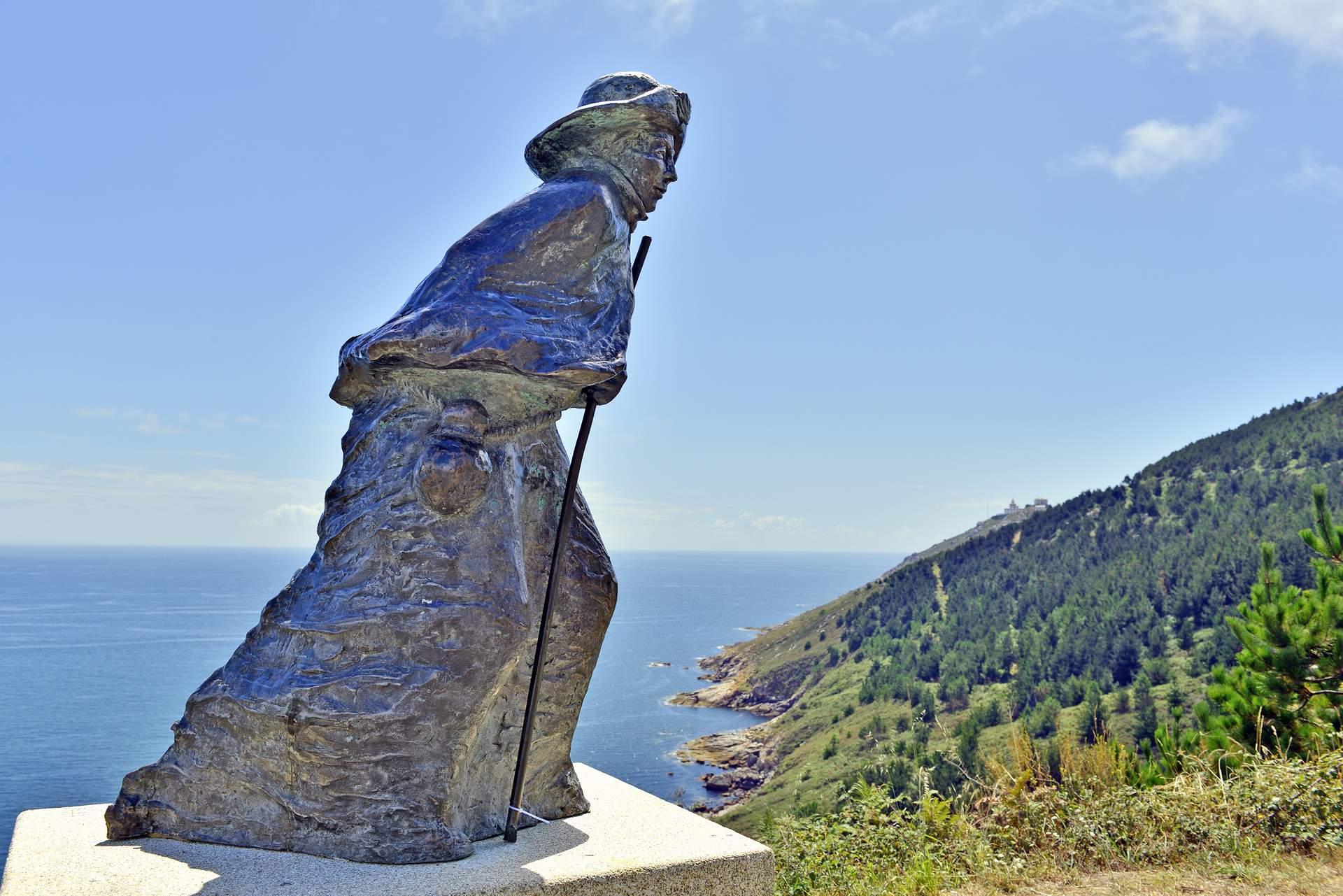 Kap Finisterre: Pilgerstatue