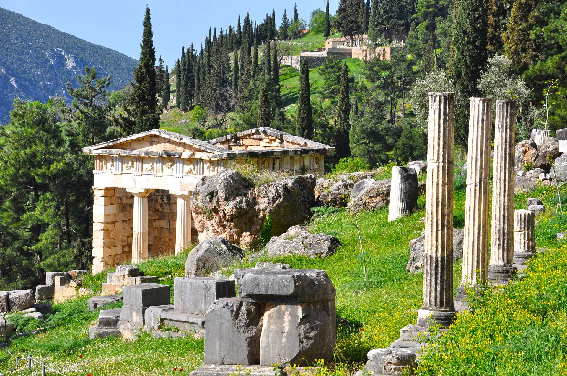 Delphi: Schatzhaus der Athener
