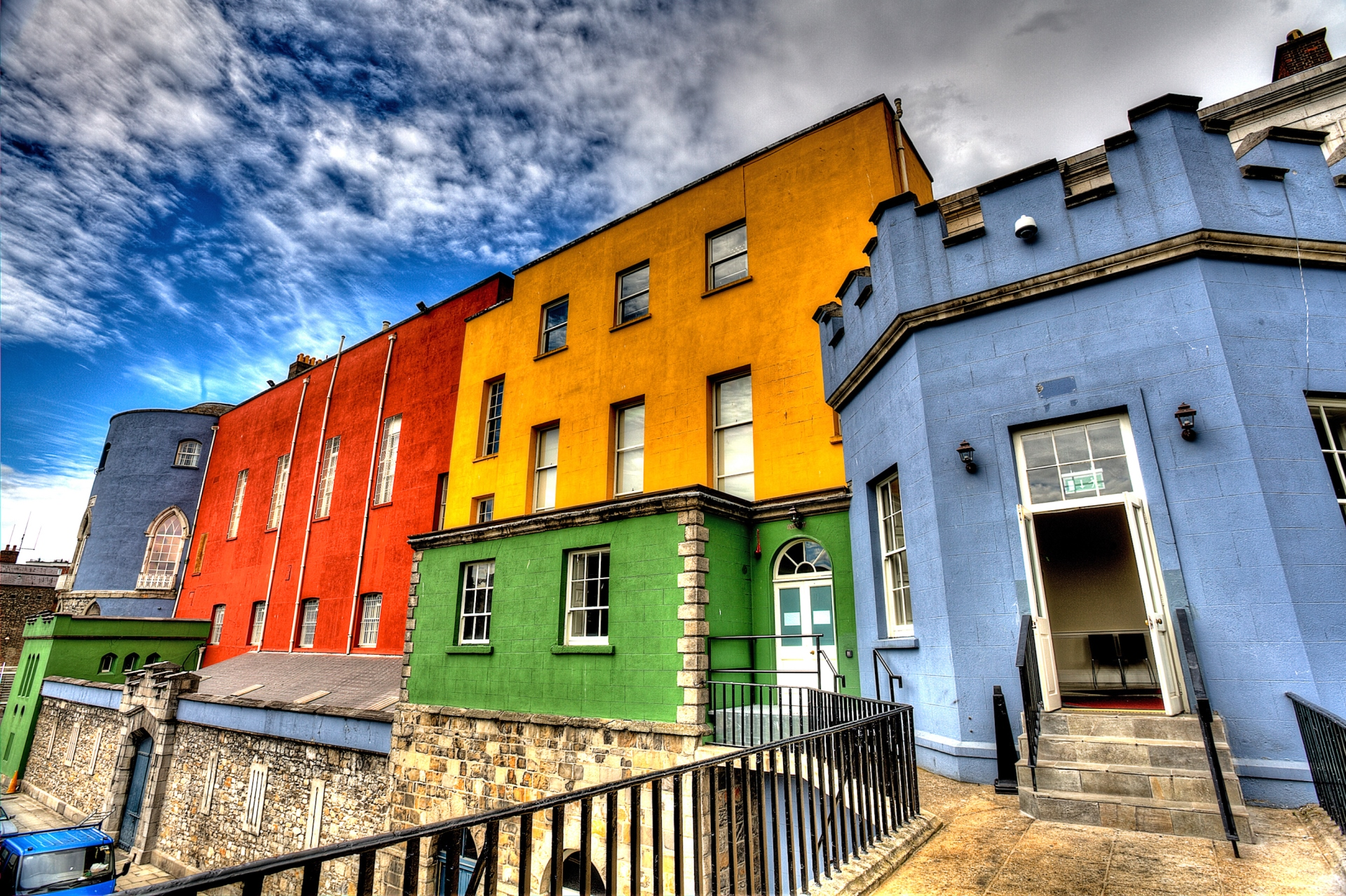 farbenfrohe Fassaden in Dublin