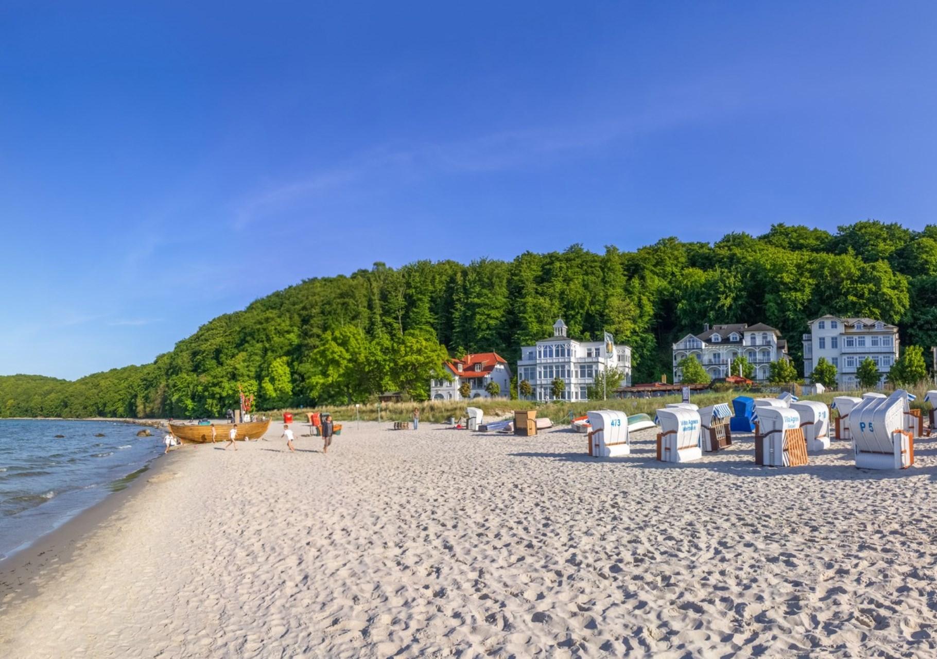 Sandstrand auf Insel Rügen
