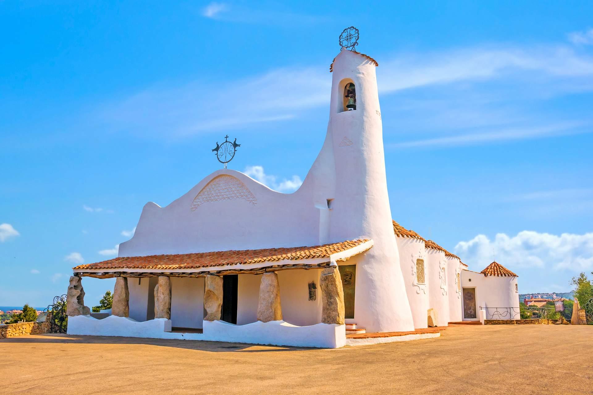 Kirche in Porto Cervo an der Costa Smeralda