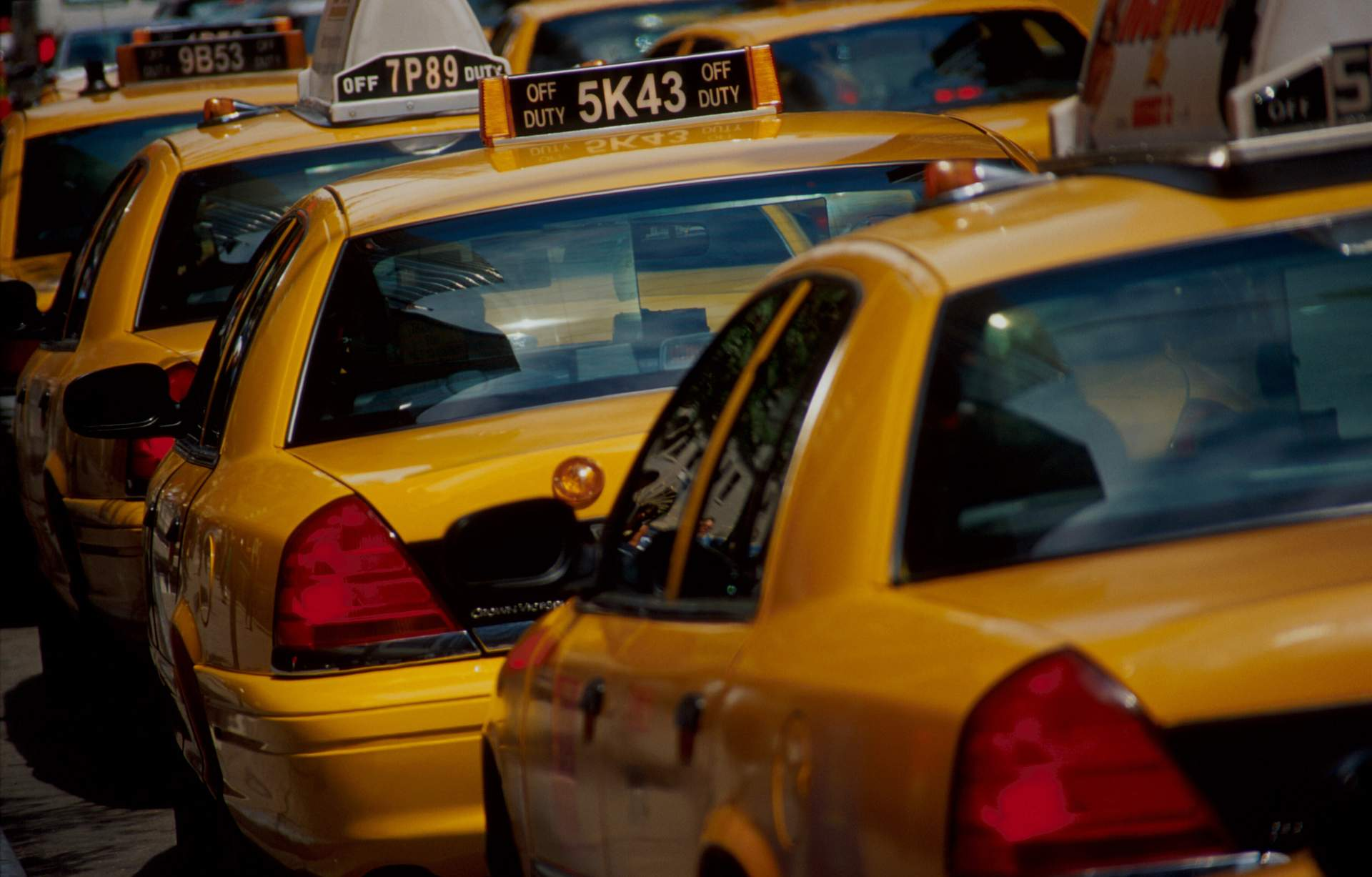 typische Taxis in New York City