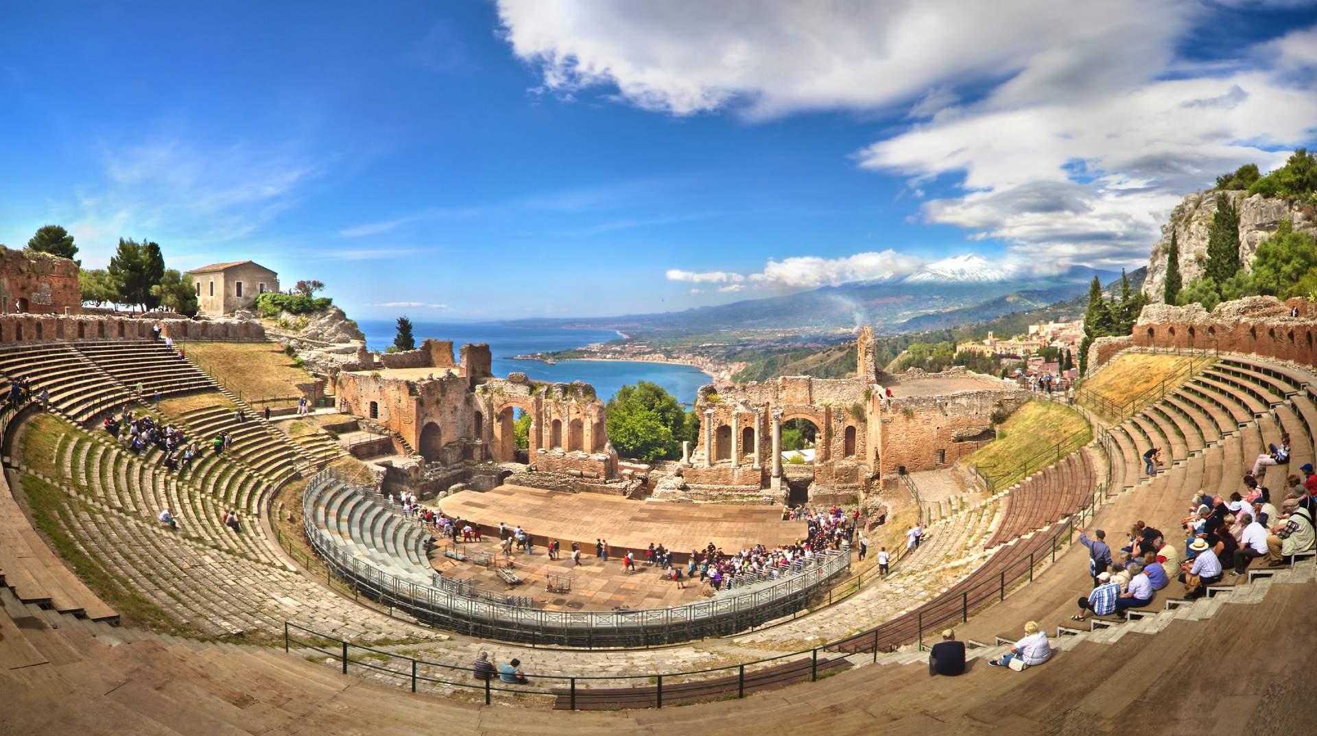 Freichlichttheater in Taormina