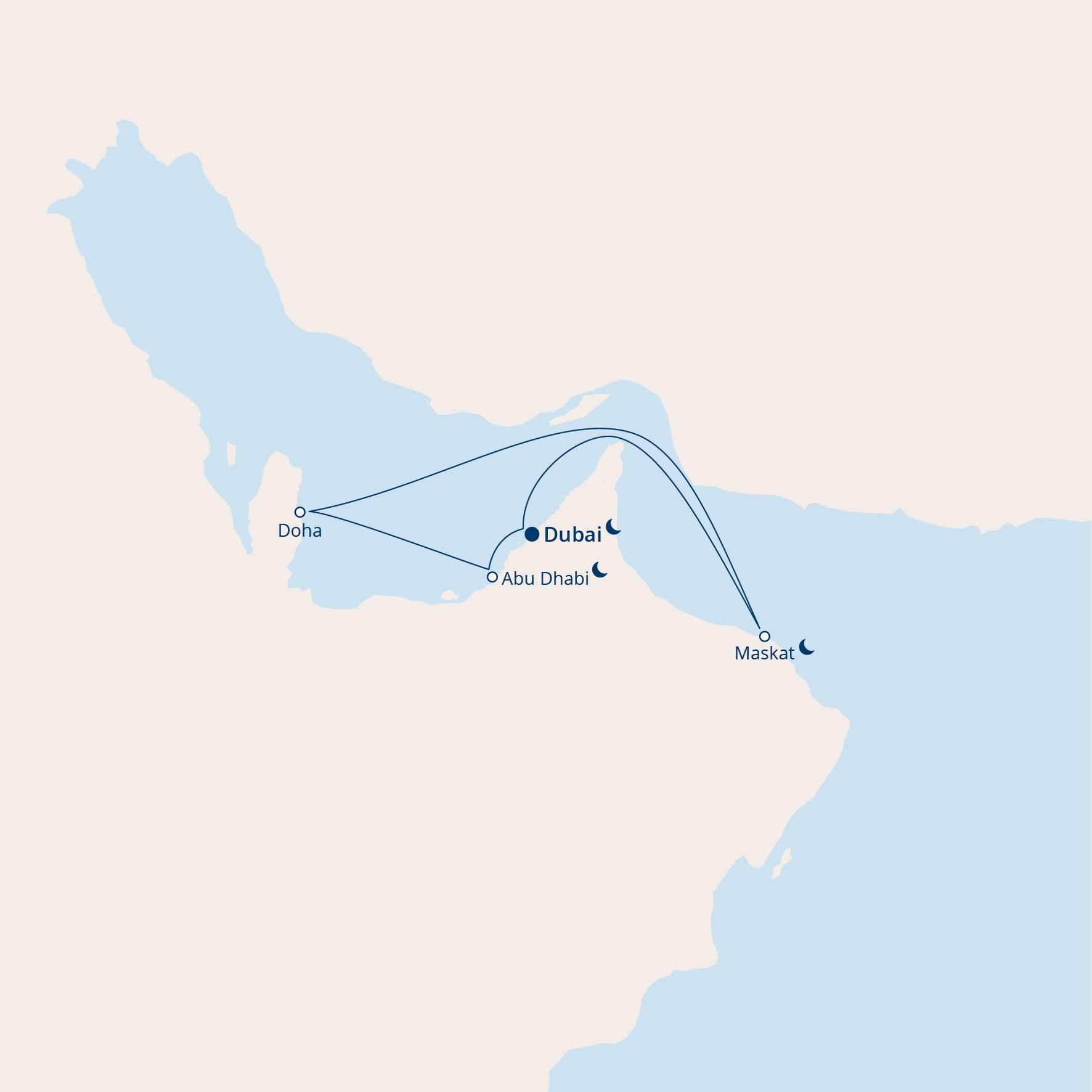 Costa Diadema: Route